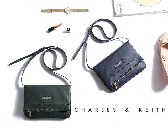 Singapore Famous Brand Charles And Keith Bags Stylish Simplicity Women Messenger Small Bag Casual