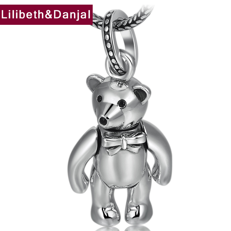 2019 Birthday present Pendant 100% 925 Sterling silver Jewelry Men Women Delicate bow bear Necklace Pendant Jewelry making P282019 Birthday present Pendant 100% 925 Sterling silver Jewelry Men Women Delicate bow bear Necklace Pendant Jewelry making P28