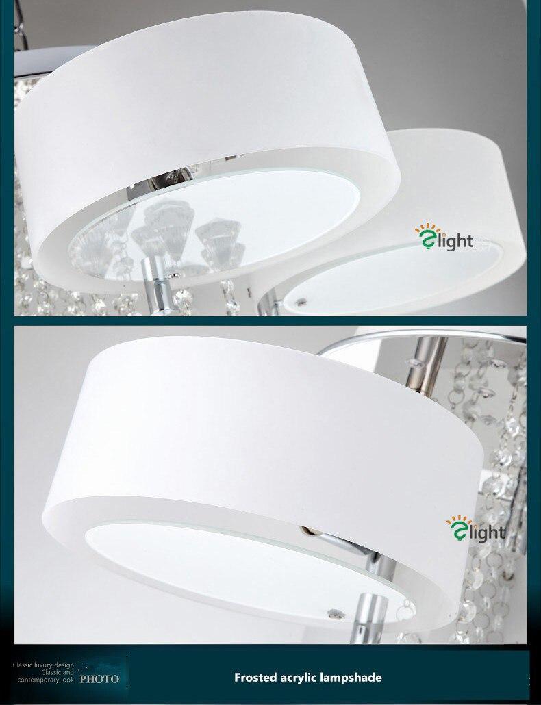 led lustres iluminação luminaria anel acrílico sala