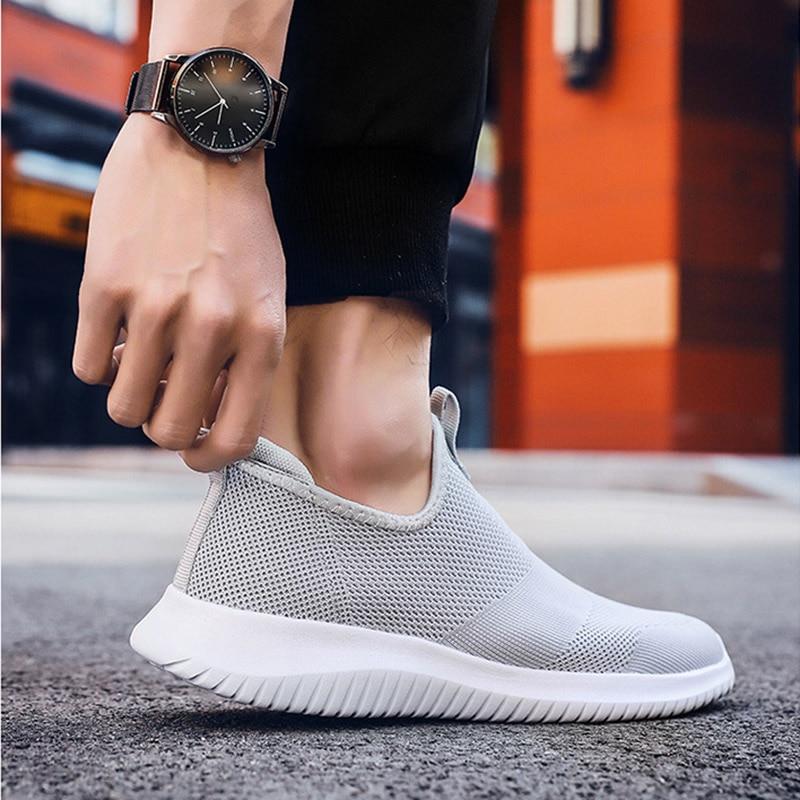 REETENE 2019 Slip On Men Casual Shoes Men Sneakers Summer Running Shoes For Men Lightweight Mesh Shoes Male Big Sizes 36-48 3