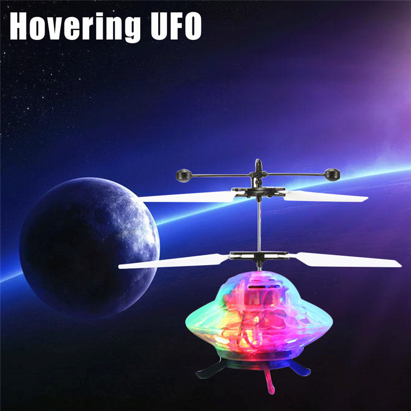 fun toys rc airplane Kids toys Hand Flying UFO Ball LED Mini Induction Suspension RC Aircraft Flying Toy Drone best gift