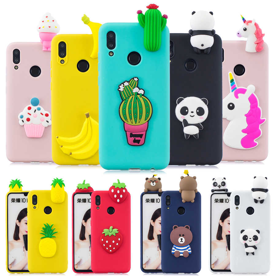 Silicone cover For Huawei Honor 10 Lite case Huawei P Smart 2019 case Honor 10 Lite Coque 3D Unicorn Panda Soft Phone cases capa