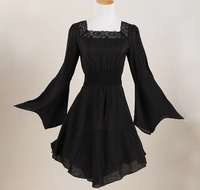 Lange top kant zwart wit shirt voor vrouw dorp boer blouses grote maat uk flare mouwen bell party kleding gypsy boho xxxl