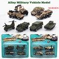 Nueva Llegada 4 unids Aleación modelo de vehículo militar N° 0818035 de Ascensores Camión modelos de coche de juguete Para Niños