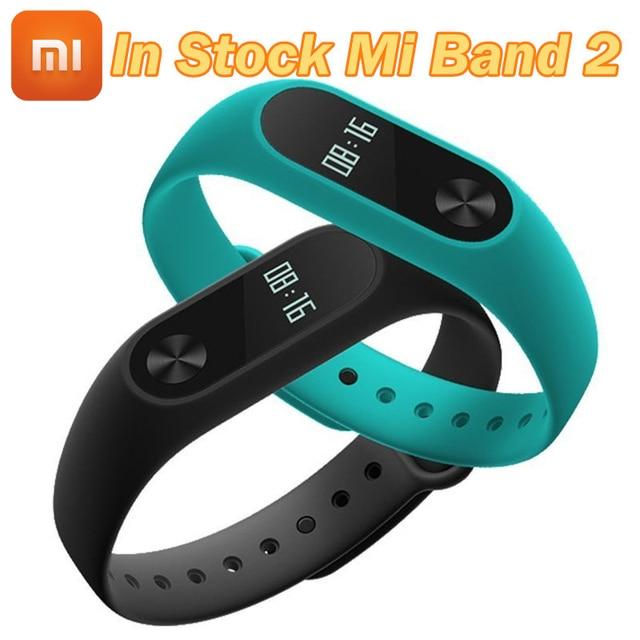 Auf lager original xiaomi mi band 2 smart armband miband 2 armband herzfrequenz fitness tracker touchpad oled strap miband2