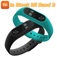 Original Xiaomi Mi Band 2 Wristband Bracelet OLED Display Touchpad Smart Heart Rate Monitor Bluetooth 4