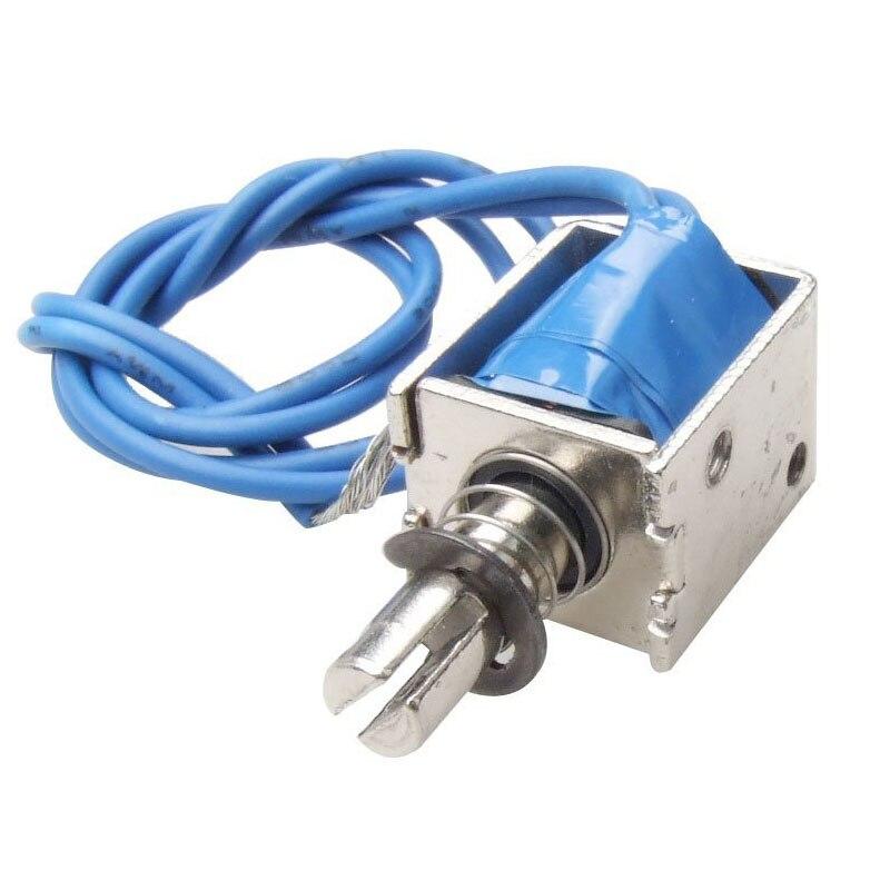 цена на DC12V Push Type Open Frame Solenoid Electromagnet Actuator 10mm 4N
