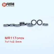 MR117 подшипник ABEC-1(10 шт) 7*11*2,5 мм миниатюрные MR117-открытые шариковые подшипники L-1170