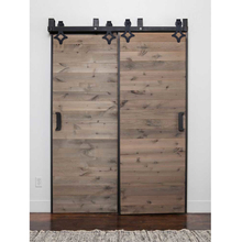 ФОТО 3050mm-4880mm country style bi-parting double wooden sliding barn door hardware kits