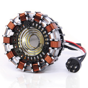 1:1 scale Iron Man MARK2 Arc Reactor A generation of glowing iron man heart model with LED Light Action Figure Toy 6
