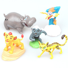 5pcs/lot The Lion Guard Lion King Kion PVC Action Figures Bunga Beshte Fuli Ono Animals Figurines Dolls Statue Kids Toys Gift
