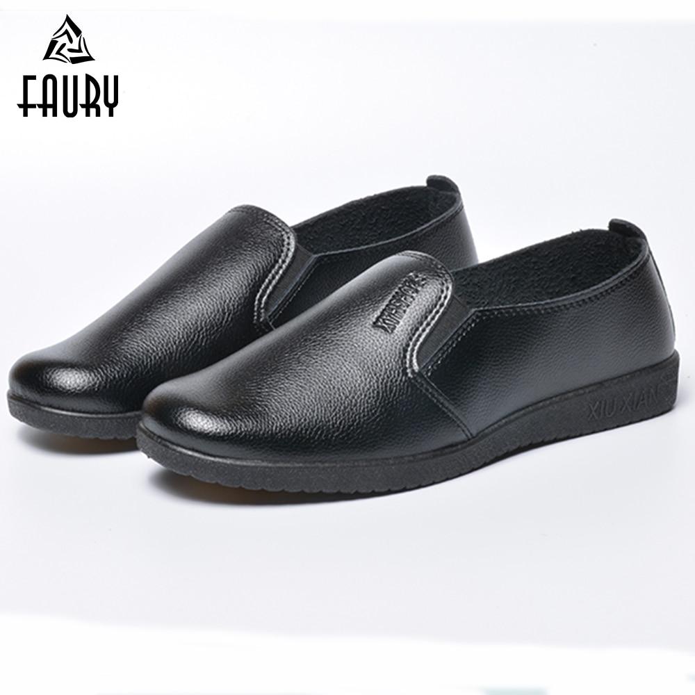 Unisex Chef Shoes Non-skid Casual Black Non-slip Anti-Oil Restaurant Kitchen Cook Hotel Hospital Safety Work Shoes Women Men
