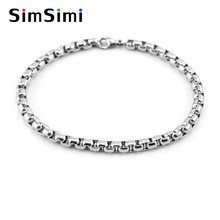 Мужской браслет simsimi нержавеющая сталь 3/4/5 мм коробка цепочка