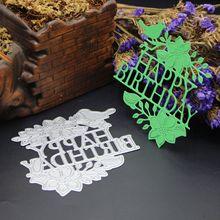 AZSG Happy Birthday Word Cutting Dies For DIY Scrapbooking Decoretive Embossing Decoative Cards Die Cutter