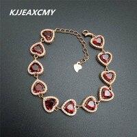 KJJEAXCMY Natural Amethyst Lady Bracelet Inlaid Jewelry Wholesale S925 Sterling Silver
