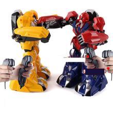 Ant Childrens education intelligent RC robot USB somatosensory remote control battle iron armor steel fist large charge t
