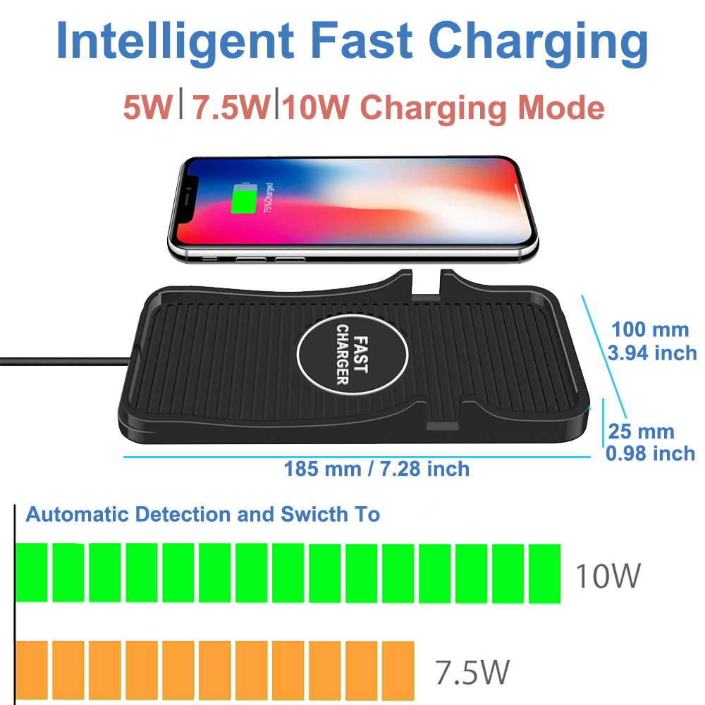 fast charging mount account chargng pad qi car charger
