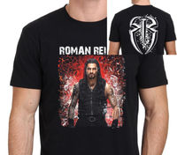ROMAN REIGNS Pro Wrestling T Shirt Men Two Sides From Ashes To Empire Casual 100 Cotton