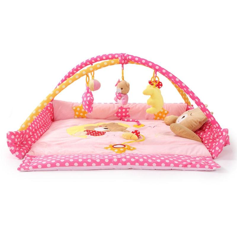 где купить RAINBOX Baby Toy Baby Folding Play Mat Moon Bear Game Carpet 0-1 Year Game Tapete Infantil Educational Crawling Mat zl859 по лучшей цене