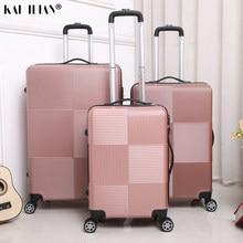 Equipaje de viaje con ruedas para mujer y hombre, maleta con ruedas de ABS + PC, carrito de mano con caja de equipaje de 20/28 pulgadas