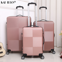 Box Luggage Trolley Wheels Carry-On Women Suitcase Travel Cabin Fashion ABS PC 20/28-Inch