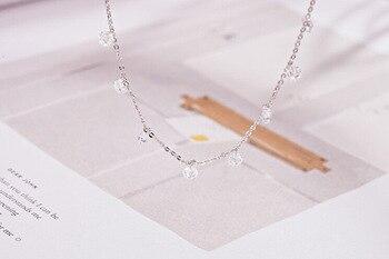 925 sterling silver zircon tassel necklaces & pendants for women long statement jewelry 1