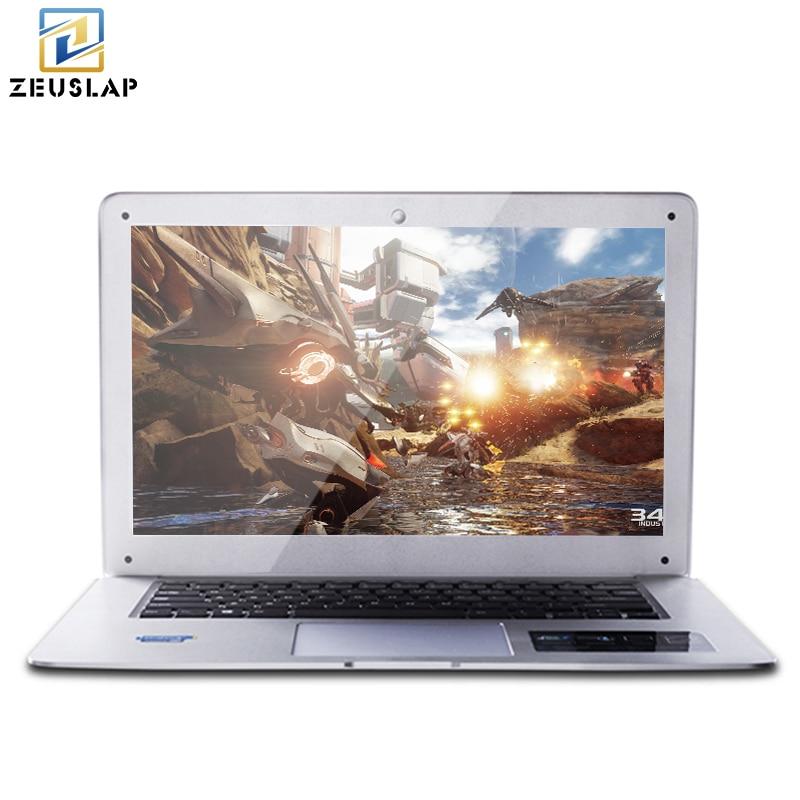 ZEUSLAP-A8 Windows 10 System 8GB Ram+64GB SSD+1TB HDD Dual Disk Ultrathin Quad Core Fast Running Laptop Notebook Computer