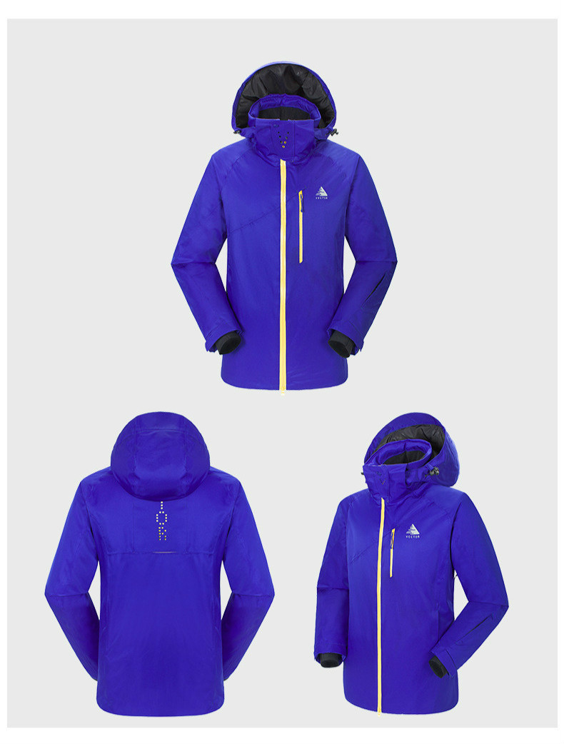 Outdoor Men's Ski Suit Thickened Clean Warm Wear resistant Waterproof Quick Dry Sports Climbing Ski Jacket For Men - 5