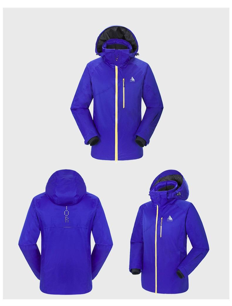 Traje de esquí para hombres al aire libre, chaqueta de esquí de escalada deportiva de secado rápido resistente al desgaste y al calor para hombres - 5