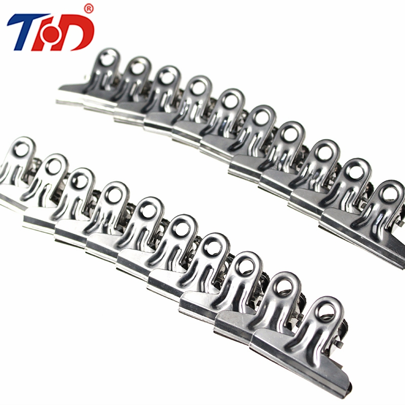 THD 20/10/4/3 Pcs Stainless Steel Metal Clips Notes Letter Office Finishing Securing Stationery Clip Paper Document Binder Clips deli binder clip 8552 four colors wallet file document paper note memo clips 24 pcs a pack office supplies stationery