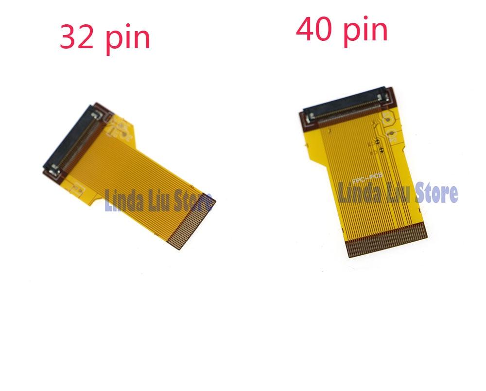 Game boy color kabel - 32 Pins 40 Pins Diy Backlit Lcd Ribbon Kabel Disorot Ribbon Adapter Untuk Layar Untuk Game
