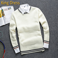 Man Knitwear 2016 New Arrival Full Pullover Good Quality Knitting Long Sleeved Youth Round Neck Warm Winter Men Sweater