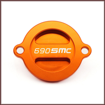For KTM 690SMC 690 SMC R 2008 2009 2010 2011 2012 2013 2014 2015 2016 Engine Oil Filter Cover Cap Motorcycle Accessories Orange image