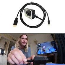 สาย HDMI video สายทอง 1080 P 3D สำหรับ HDTV GoPro Hero 7/6/5/ 4/3 + SJCAM SJ4000 YI SONY Action กล้องอุปกรณ์เสริม