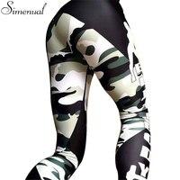 Camouflage Splice Harajuku Fitness Legging Pants Female Clothing 2016 Fashion Slim Athleisure Leggings Elastic Push Up
