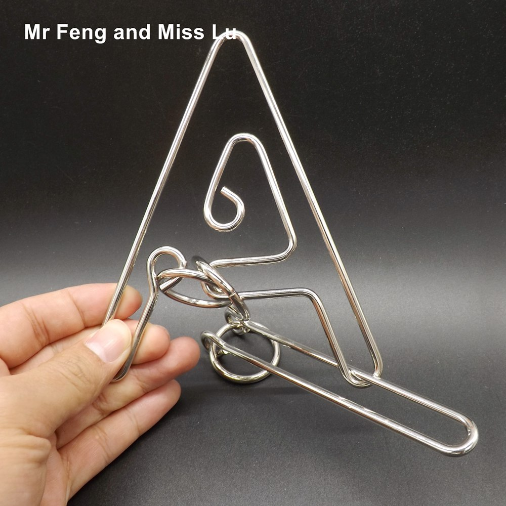 Especially Big Letter A Ring Puzzle Wire Game Adult Toy Magic Trick ...