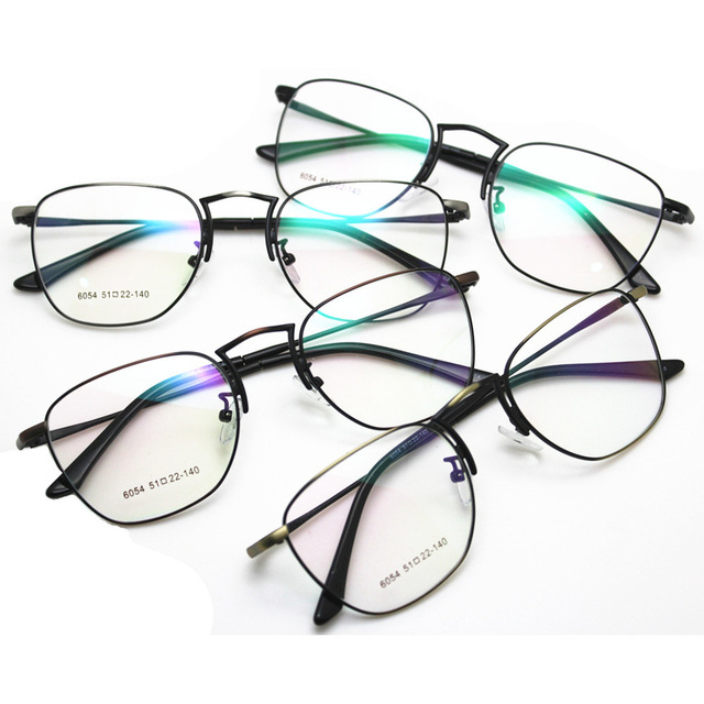 cd4135576e7 New Edition Including Too Lang Fund Myopia Spectacle Frame Korean Restore  Ways Exceed Light Metal Small