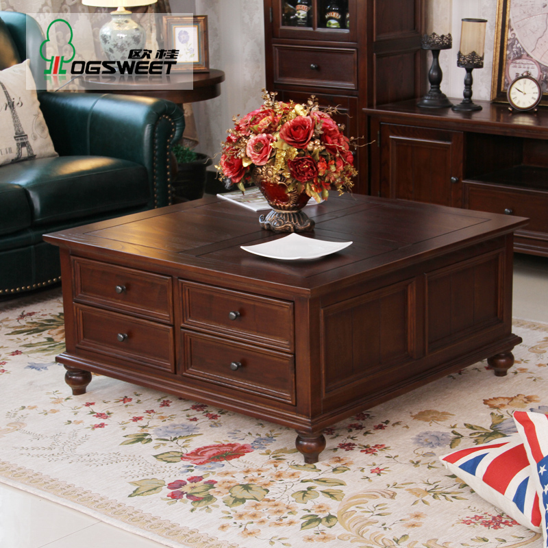 4 Large Ash Wood Coffee Table Storage Small Square Wooden Living Room Side  Teasideend In Coffee Tables From Furniture On Aliexpress.com | Alibaba Group