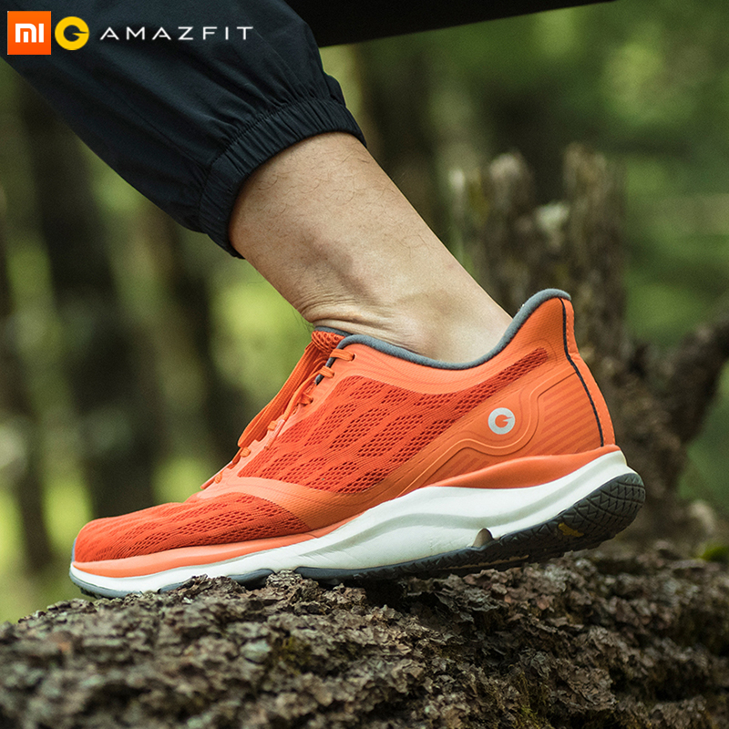 Xiaomi Mijia Amazfit Antelope Men's Running Shoes Outdoor  sneakers for men Smart sport shoes zapatillas hombre Chip APP Control(China)