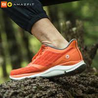 Xiaomi Mijia Amazfit antylopy męskie buty do biegania odkryte trampki dla mężczyzn inteligentne buty sportowe zapatillas hombre kontrola aplikacji chipa