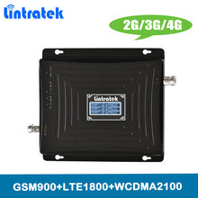 Lintratek 2G 3G 4G Amplifier TriBand Cellular Signal Booster GSM 900 DCS LTE 1800 WCDMA UMTS 2100MHz Cellphone Repeater @