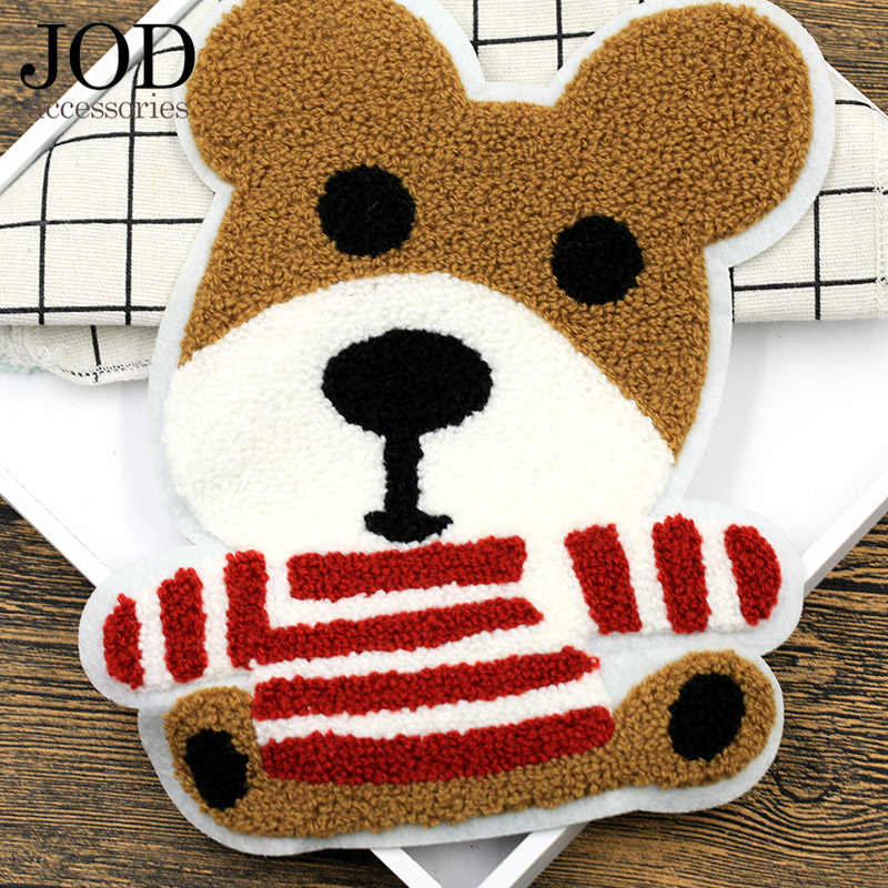 สุนัขเย็บปักถักร้อยแพทช์เสื้อผ้า Applique สติกเกอร์กระเป๋าเป้สะพายหลังผ้าขนสัตว์เย็บบนแพทช์สำหรับเสื้อผ้าอุปกรณ์เสริม Big Badge ขนาดใหญ่ Stripe