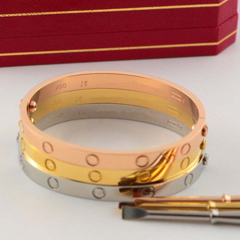 Classic fifth brand fashion carter love bracelet bangles for women men titanium steel lovers wedding jewelry with screwdriver