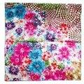 100% Шелк Женщин Большой Размер Шарф Красивый Цветок Разработанный Люксовый Бренд Пляжные Платки Обертывания Soft Touch Подарок Для Девочек
