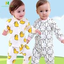 Детские пижамы для мальчиков и девочек, хлопок, одежда для сна с длинными рукавами с героями мультфильмов, От 0 до 2 лет, детские пижамы с животными, Детские хлопковые пижамы, детские комплекты одежды для сна