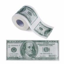 дешево!  Сто долларовую купюру с печатным рисунком туалетной бумаги америки доллары ткани новинка забавная