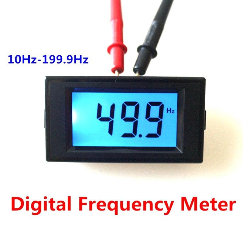 Nouveau LCD Numérique Fréquence Compteur Compteur testeur Cymometer 10Hz-199.9Hz Frecuencimetro