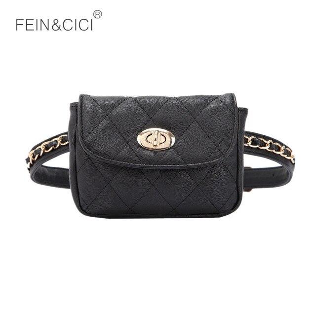 ff2cc8ab4cd0 fanny Pack waist belt bag women chains fanny Packs bags luxury brand leather  blue white black