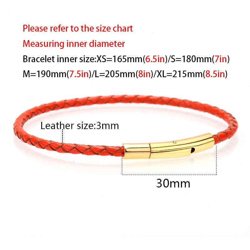 Mcilroy para bransoletka/dla miłośników pleciony pasek z prawdziwej skóry bransoletki dla kobiet mężczyzn biżuteria ze stali nierdzewnej prezent na Walentynki