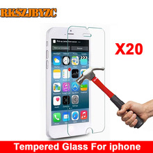 20pcs/lot Premium Tempered Glass Screen Protector For iPhone 6 6s 6/6s Plus 7 7 plus 5 5s se 5C 4 4s Toughened protective film